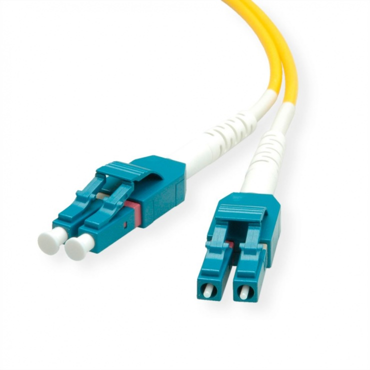 Imagine Cablu Jumper Fibra optica LC-LC duplex OS2 1m, Roline 21.15.8781