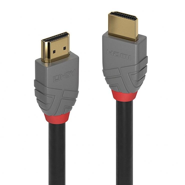Imagine Cablu HDMI Ultra HD 4K Anthra Line T-T 10m, Lindy L36967