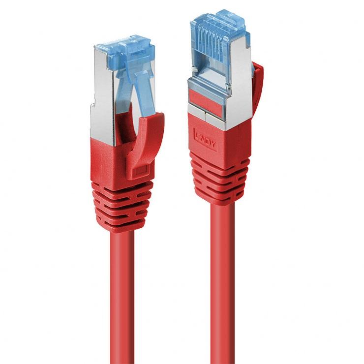 Imagine Cablu de retea Cat.6A S/FTP LSZH 30m Rosu, Lindy L47171
