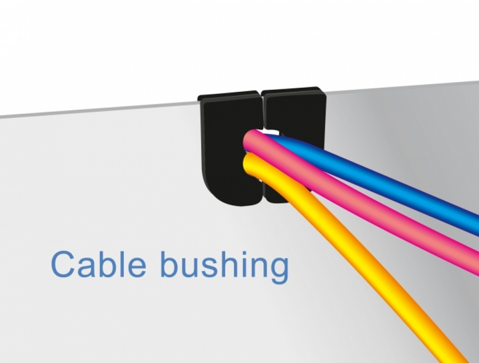 Imagine Set 10 buc protectie cabluri dreptunghiular - diametru 4.6 x 4.6 mm Natural, Delock 60254