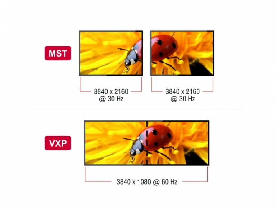 Imagine Adaptor USB-C (DP Alt Mode) la 2 x DisplayPort MST / VXP, Delock 87754