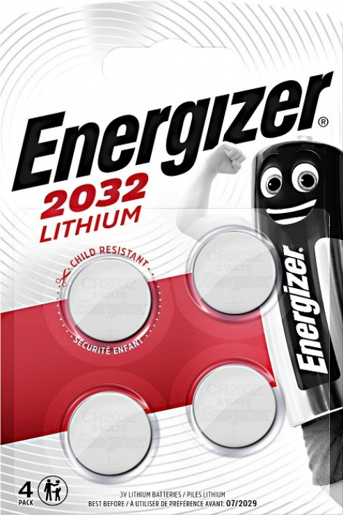 Imagine Set 4 buc baterii litiu CR2032, ENERGIZER