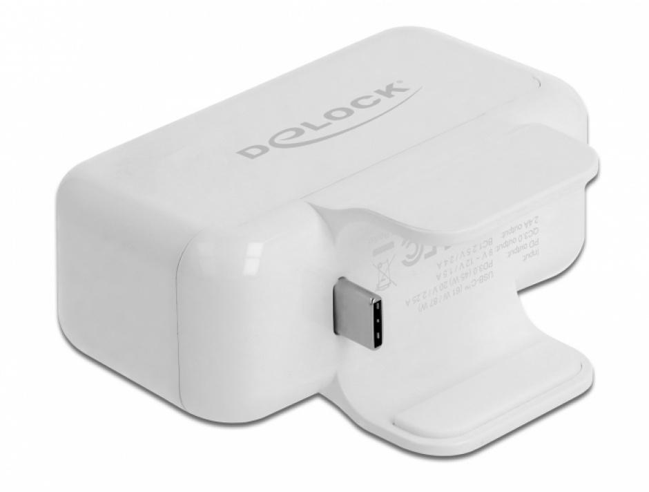 Imagine Adaptor pentru alimentator Apple cu PD si Quick Charge 3.0, Delock 64079