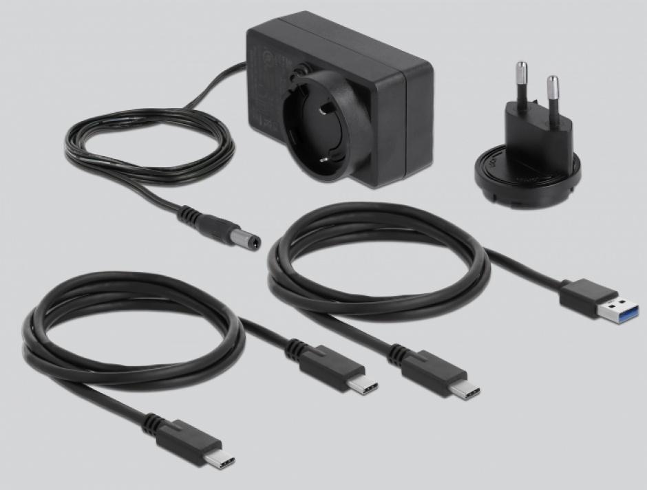 "Imagine Docking Station USB-C 3.0 pentru 1 x SATA 2.5""/3.5"" HDD / SSD transparent, Delock 64089"
