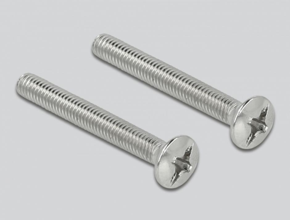 Imagine Priza pentru organizarea cablurilor 86 x 86 mm cu perii, Delock 66495