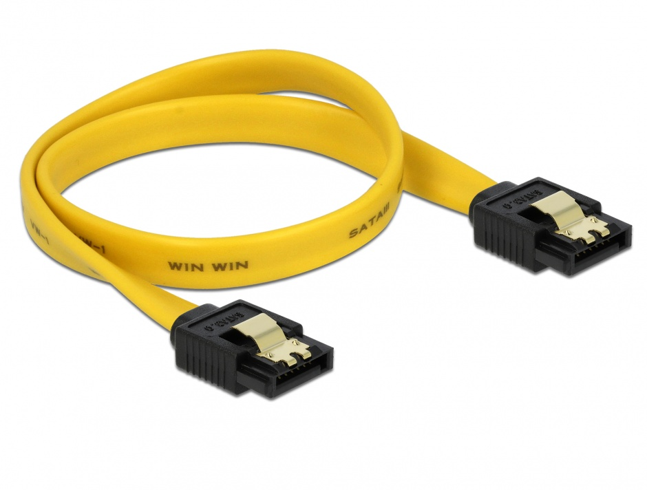 Imagine Cablu SATA III 6 Gb/s drept cu fixare 30cm, Delock 82805