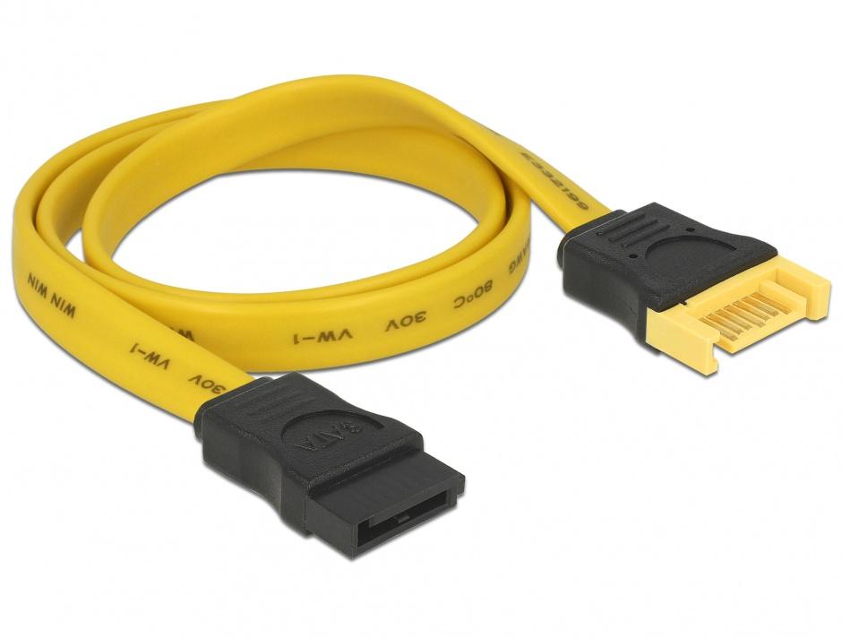 Imagine Cablu prelungitor SATA III 6 Gb/s T-M 50cm, Delock 82854