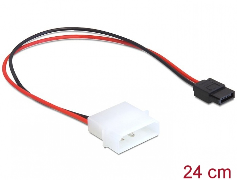 Imagine Cablu de alimentare Molex la SATA 6 pini, Delock 82913