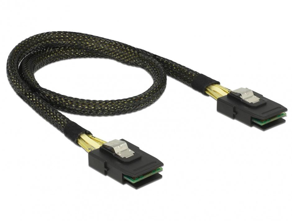 Imagine Cablu mini SAS 36 pin SFF 8087 T-T 50cm, Delock 83055