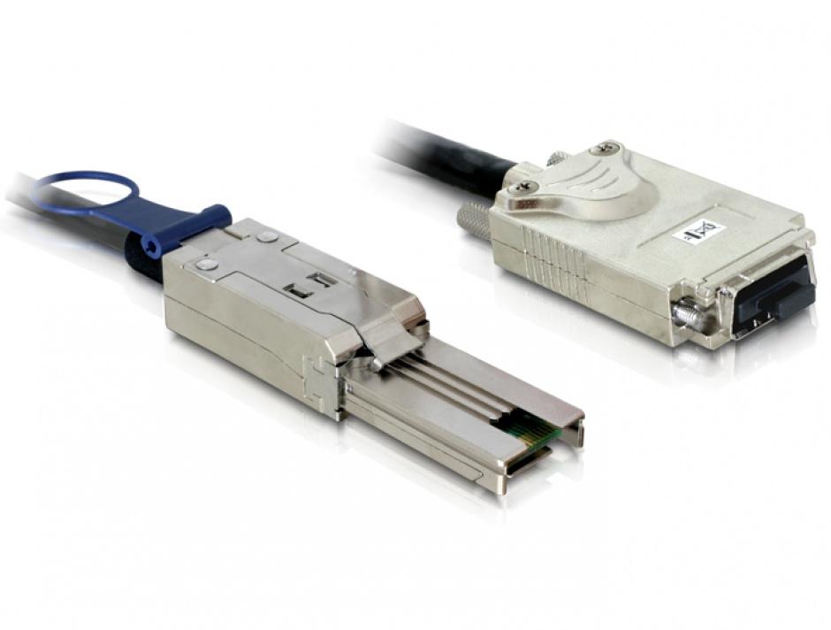 Imagine Cablu mini SAS SFF-8088 la Infiniband SFF-8470 1m, Delock 83062
