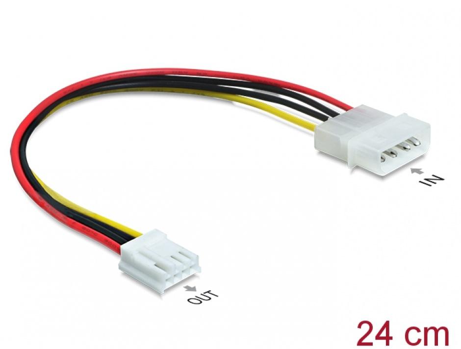 Imagine Cablu de alimentare Molex 4 pini la floppy T-M, Delock 83184
