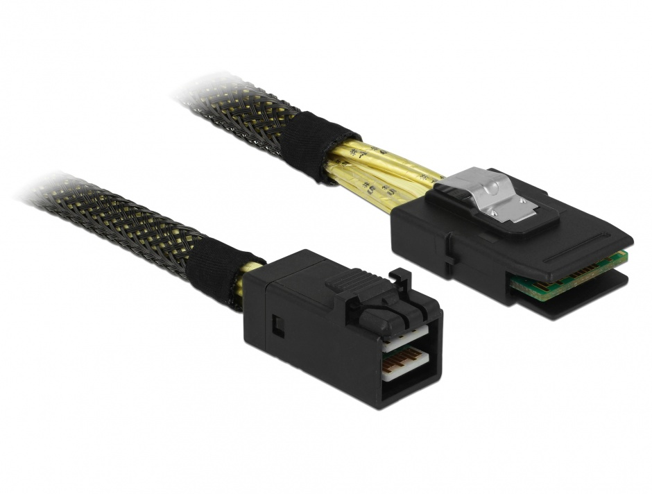 Imagine Cablu Mini SAS HD SFF-8643 la Mini SAS SFF-8087 1m, Delock 83389