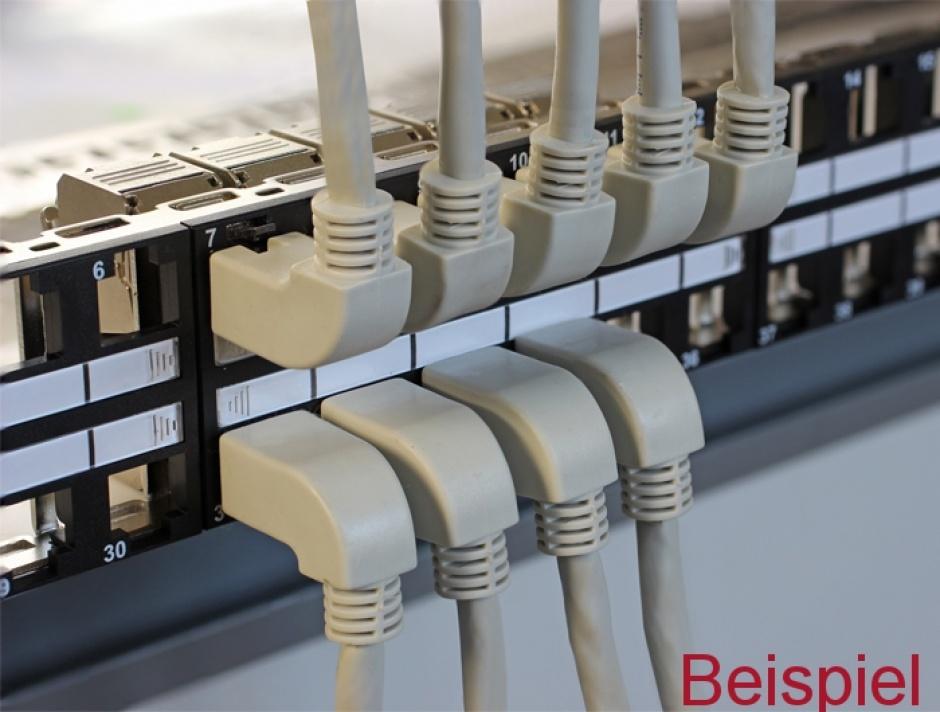 Imagine Cablu retea Cat.6A SSTP unghi/drept 0.5m, Delock 83644