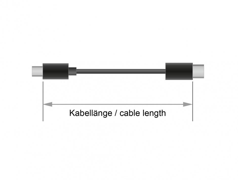 Imagine Cablu USB tip C 2.0 la USB tip B T-T 4m Negru, Delock 83667