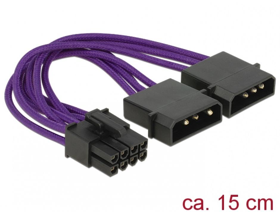 Imagine Cablu de alimentare PCI Express 8 pini, Delock 83705