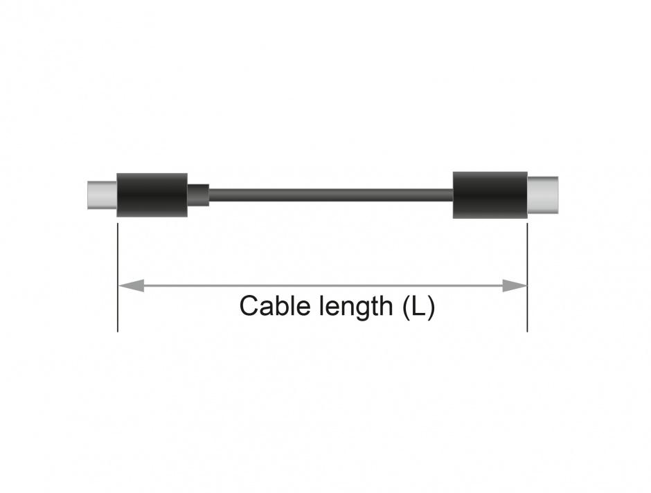 Imagine Cablu USB-C la DisplayPort (DP Alt Mode) 4K 60Hz T-T 1m coaxial, Delock 83709