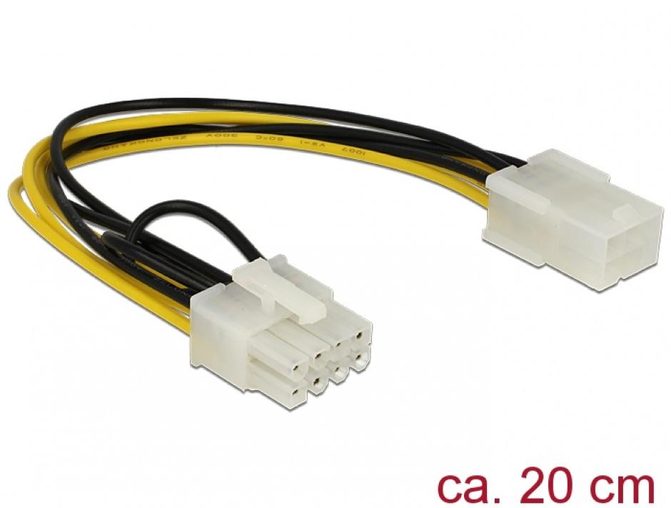 Imagine Cablu alimentare PCI Express 6 pini la 8 pini M-T, Delock 83775