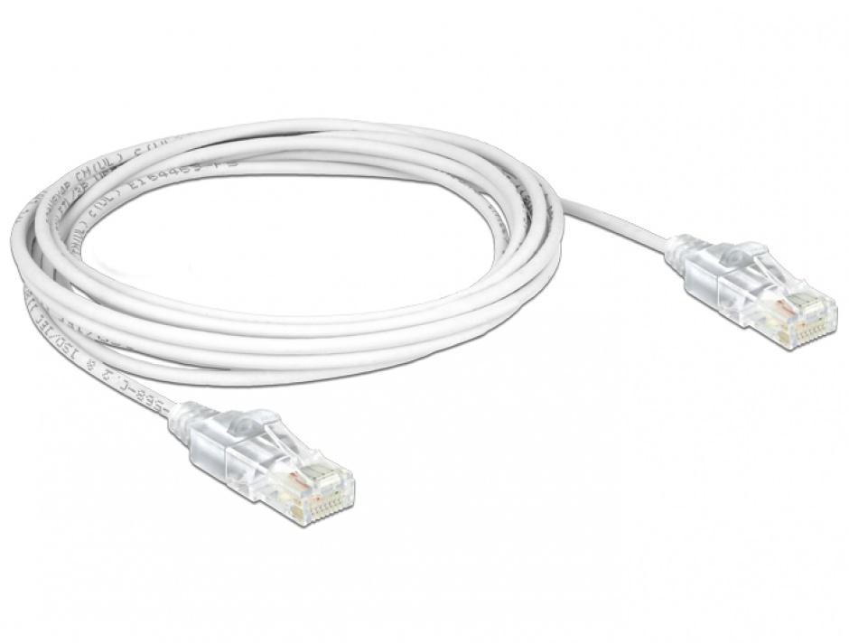 Imagine Cablu RJ45 Cat.6 UTP Slim 3m, Delock 83783