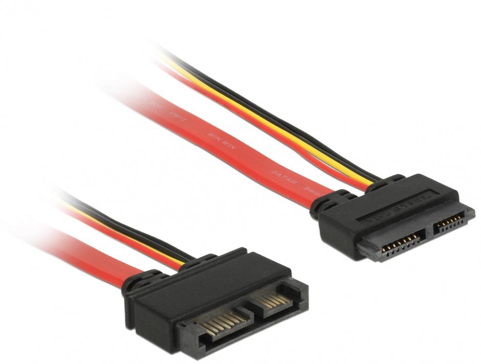 Imagine Cablu prelungitor Slim SATA 13 pini T-M 30cm, Delock 84374