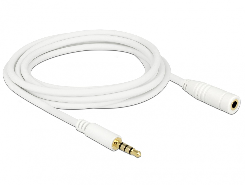 Imagine Cablu prelungitor audio jack 3.5mm 4 pini T-M 3m, Delock 84483