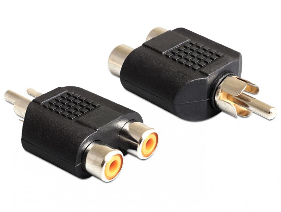 Imagine Adaptor 2 x RCA la 1 x RCA M-T, Delock 84499