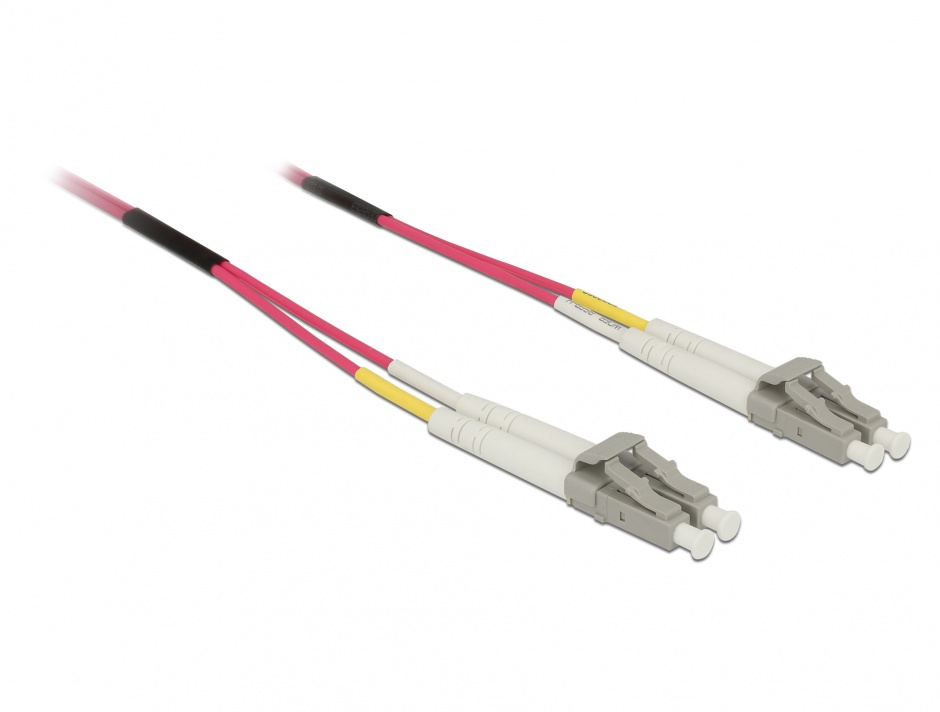 Imagine Cablu fibra optica LC- LC Multimode OM4 3m, Delock 84642