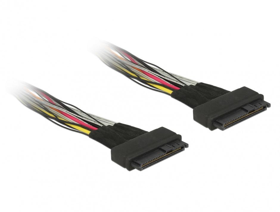 Imagine Cablu U.2 SFF-8639 M-M 0.5m, Delock 84824