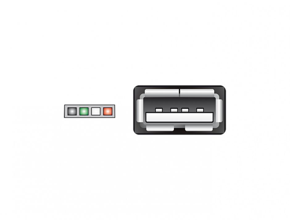 Imagine Cablu USB 2.0 pin header 4 pini la USB 2.0-A M-M pentru Intel NUC 15cm, Delock 84834