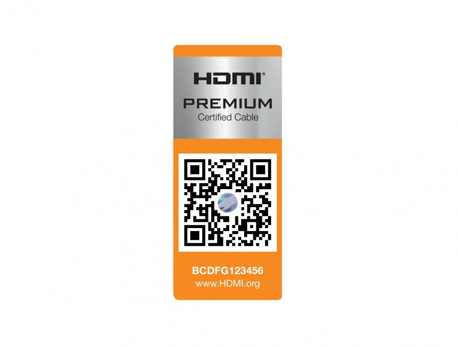Imagine Cablu HDMI 4K@60Hz Premium T-T 1m Negru, Delock 84963
