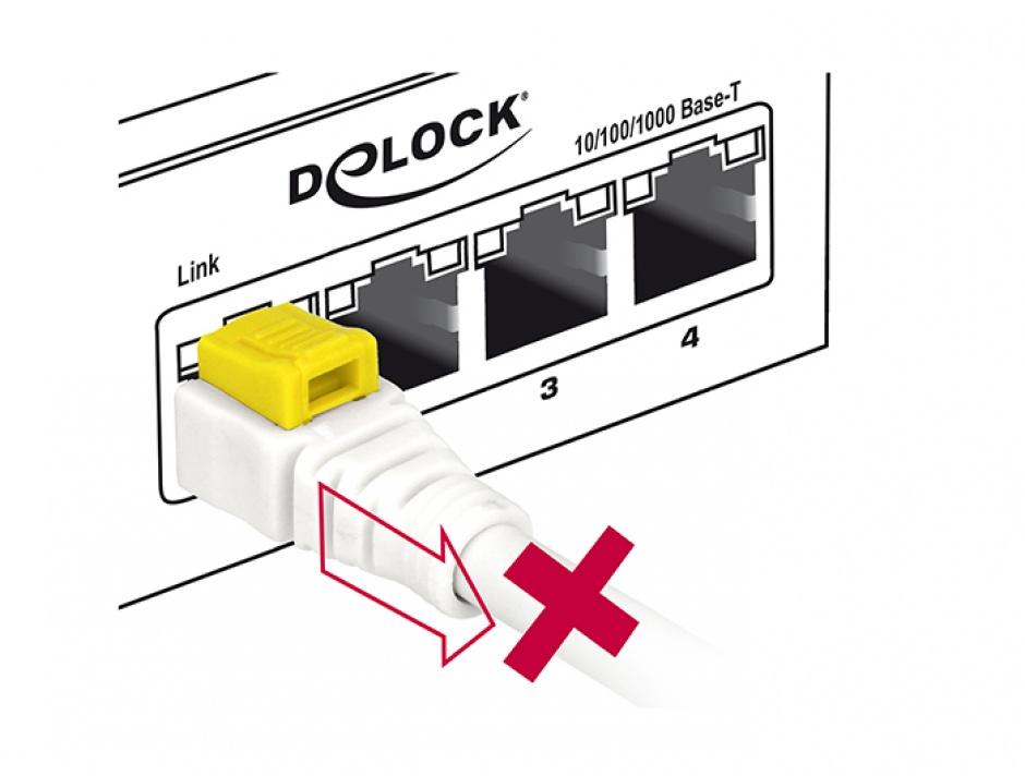 Imagine Cablu de retea RJ45 cat 6A cu sistem de blocare 1m, Delock 85331