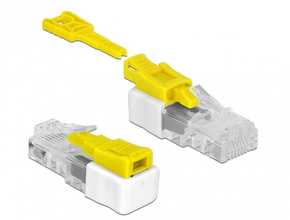 Imagine Sistem de blocare pentru cablurile de retea set 5 bucati, Delock 85334