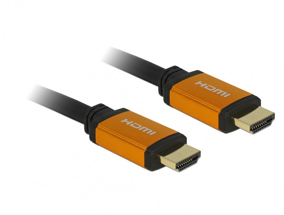 Imagine Cablu Ultra High Speed HDMI 8K60Hz/4K240Hz T-T 1m Negru, Delock 85727