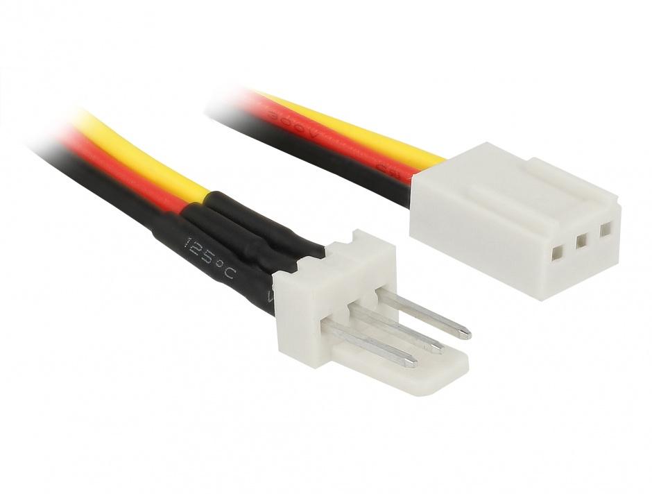 Imagine Cablu de alimentare ventilator 3 pini T-M 60cm, Delock 85752