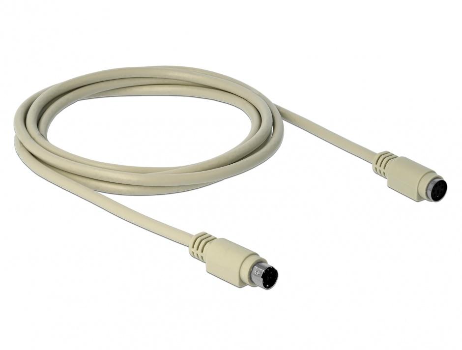 Imagine Cablu prelungitor PS/2 T-M 1.8m, Delock 85805