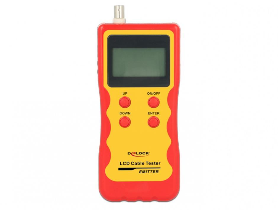 Imagine Tester LCD RJ45 / RJ12 / BNC / USB, Delock 86108