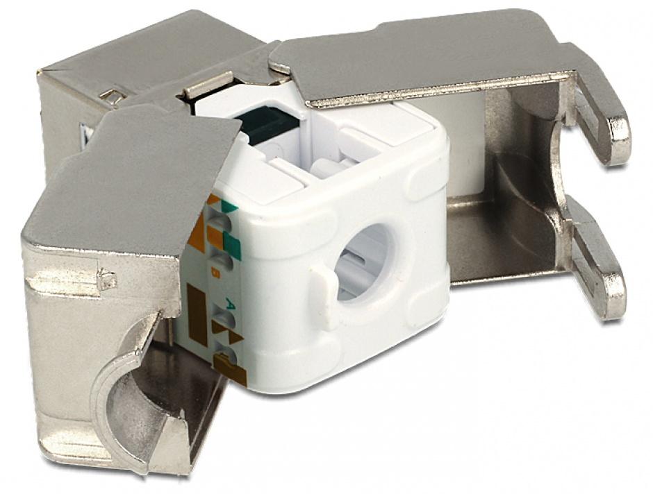 Imagine Modul Keystone RJ45 M la  LSA Cat.6, Delock 86154