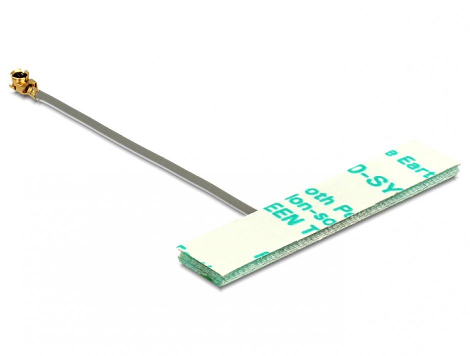 Imagine Antena WLAN MHF/U.FL-LP-068 Compatibila 802.11 ac/a/h/b/g/n 3 dBi 50 mm PCB Intern, Delock 86246