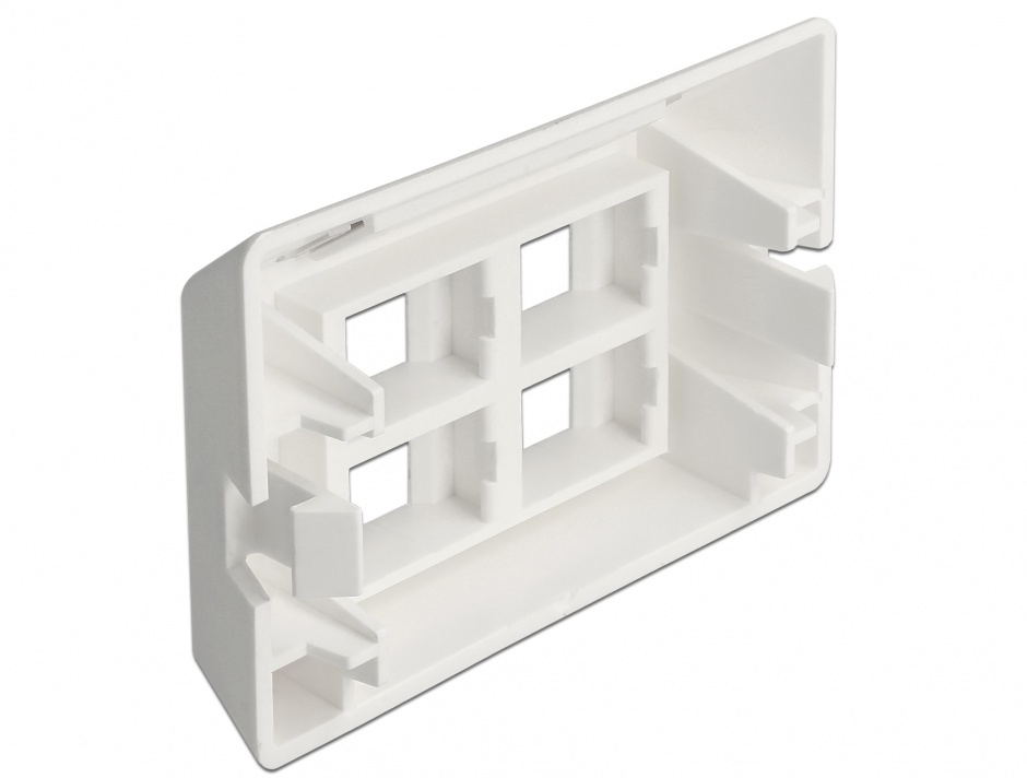 Imagine Priza cu 4 porturi Keystone pentru instalare mobila Alb, Delock 86293