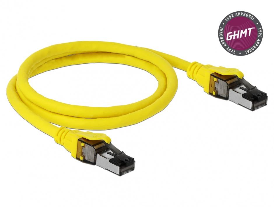 Imagine Cablu de retea RJ45 Cat.8.1 S/FTP 1m, Delock 86581