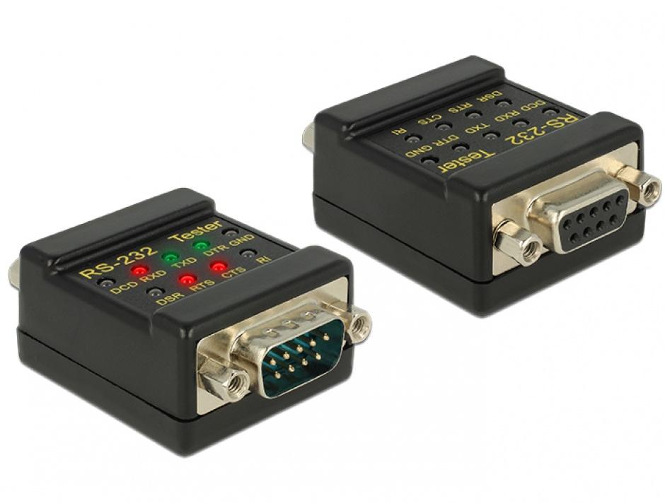 Imagine Tester RS-232 DB9 T-M, Delock 87713