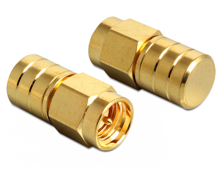 Imagine SMA plug terminator DC short circuit 37,50 Ohm, Delock 88712