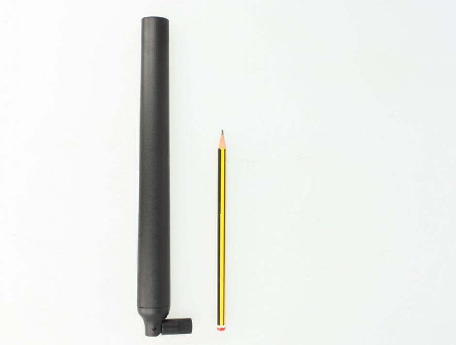 Imagine Antena WLAN RP-SMA 802.11 ac/a/h/b/g/n 5.5 ~ 9 dBi Omnidirectional Joint Black, Delock 88991