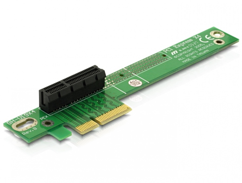 Imagine Riser card PCI Express x4 unghi 90 grade insertie stanga, Delock 89103