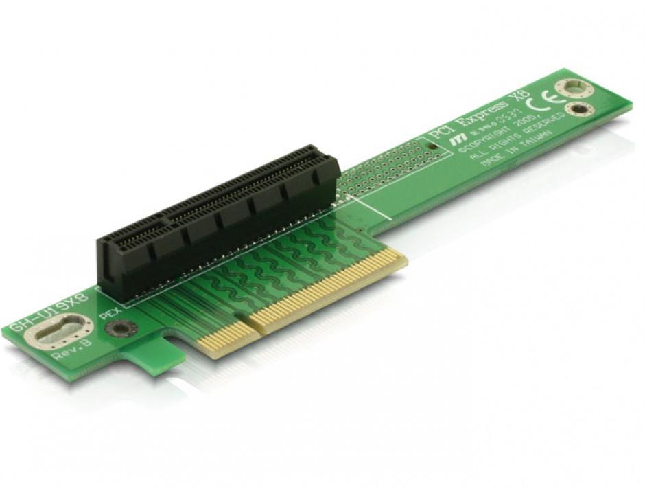 Imagine Riser card PCI Express x8 unghi 90 insertie stanga, Delock 89104
