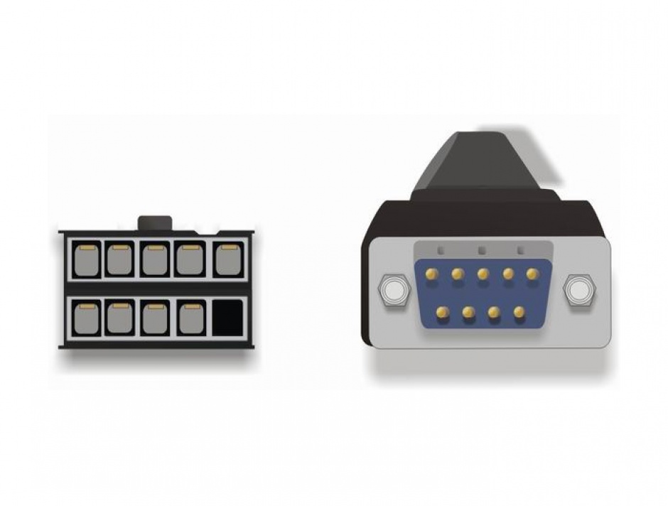 Imagine Bracket serial DB9 1 port 1:1, Delock 89108