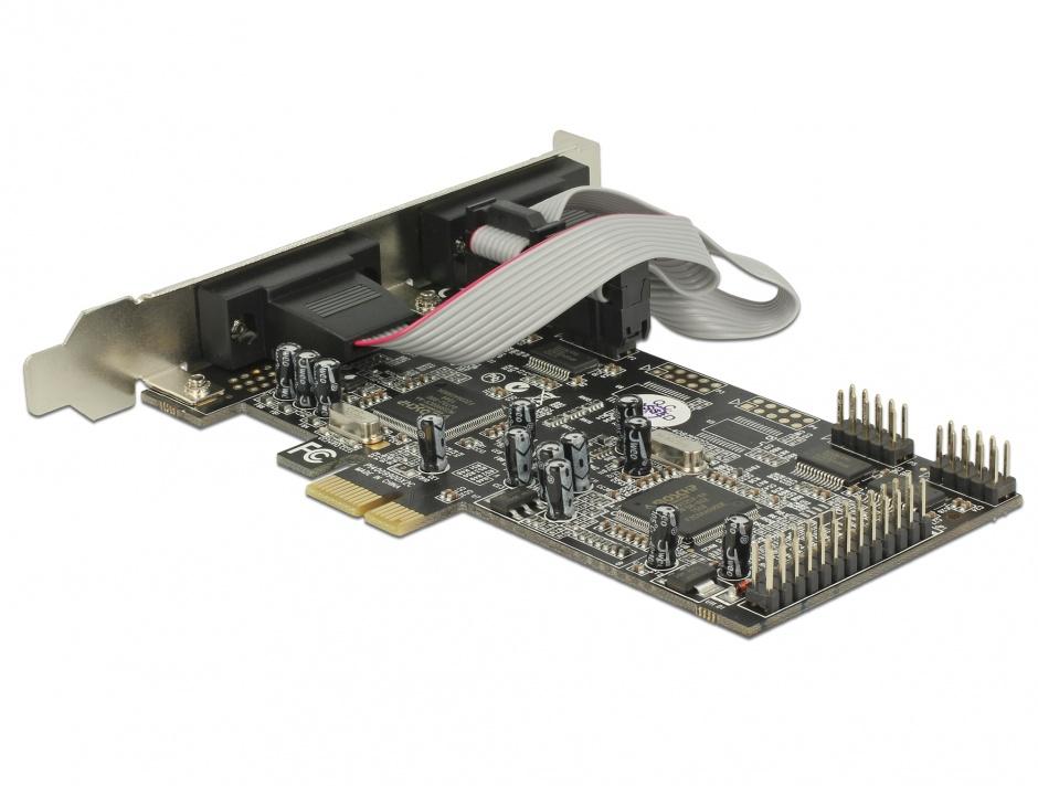 Imagine PCI Express 4 X Serial RS232 + 1 X paralel DB25, Delock 89177