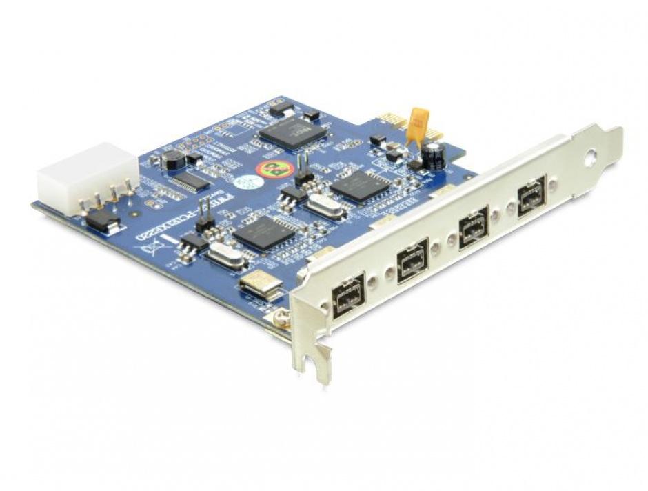 Imagine PCI Express cu Dual Channel 2x2 FireWire B, Delock 89208