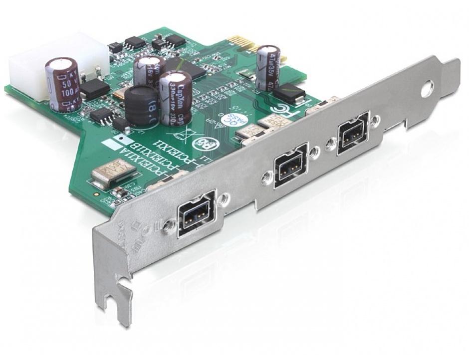 Imagine PCI Express la 3 x FireWire B, Delock 89210