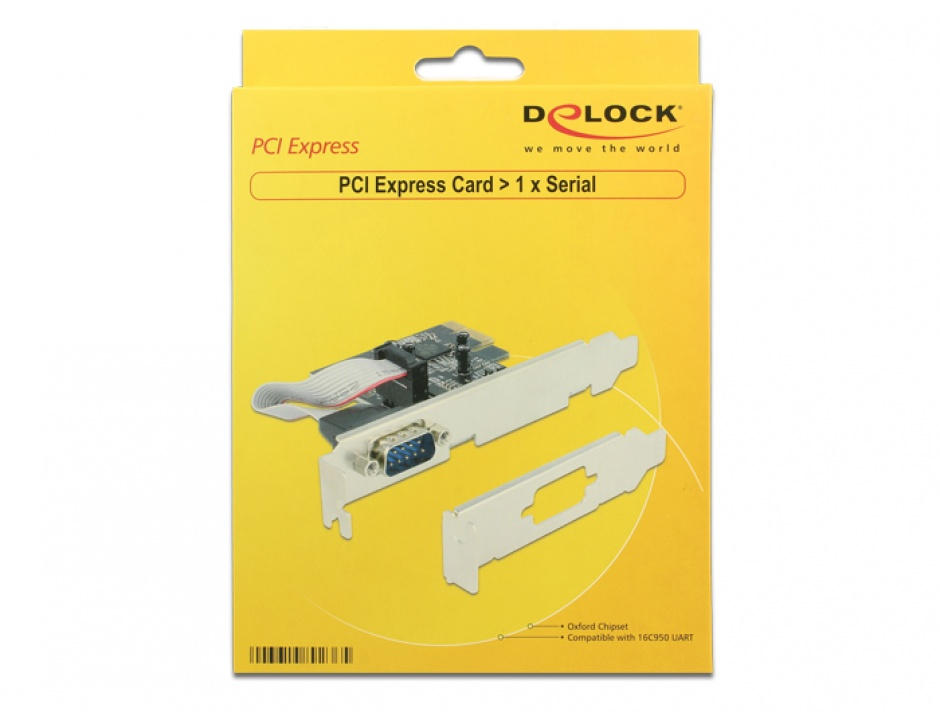 Imagine PCI Express la 1 port serial RS232, Delock 89236