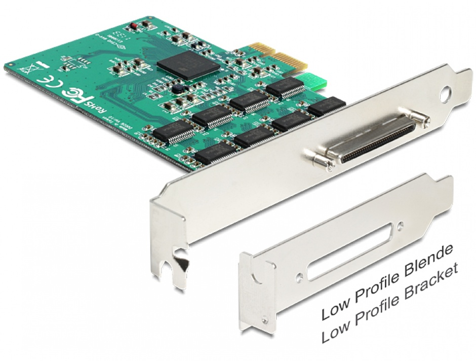 Imagine PCI Express Card la 8 x Serial RS-232 High Speed 921K, Delock 89336